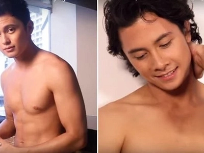 Daring JC Santos is game for gay kiss with James Reid