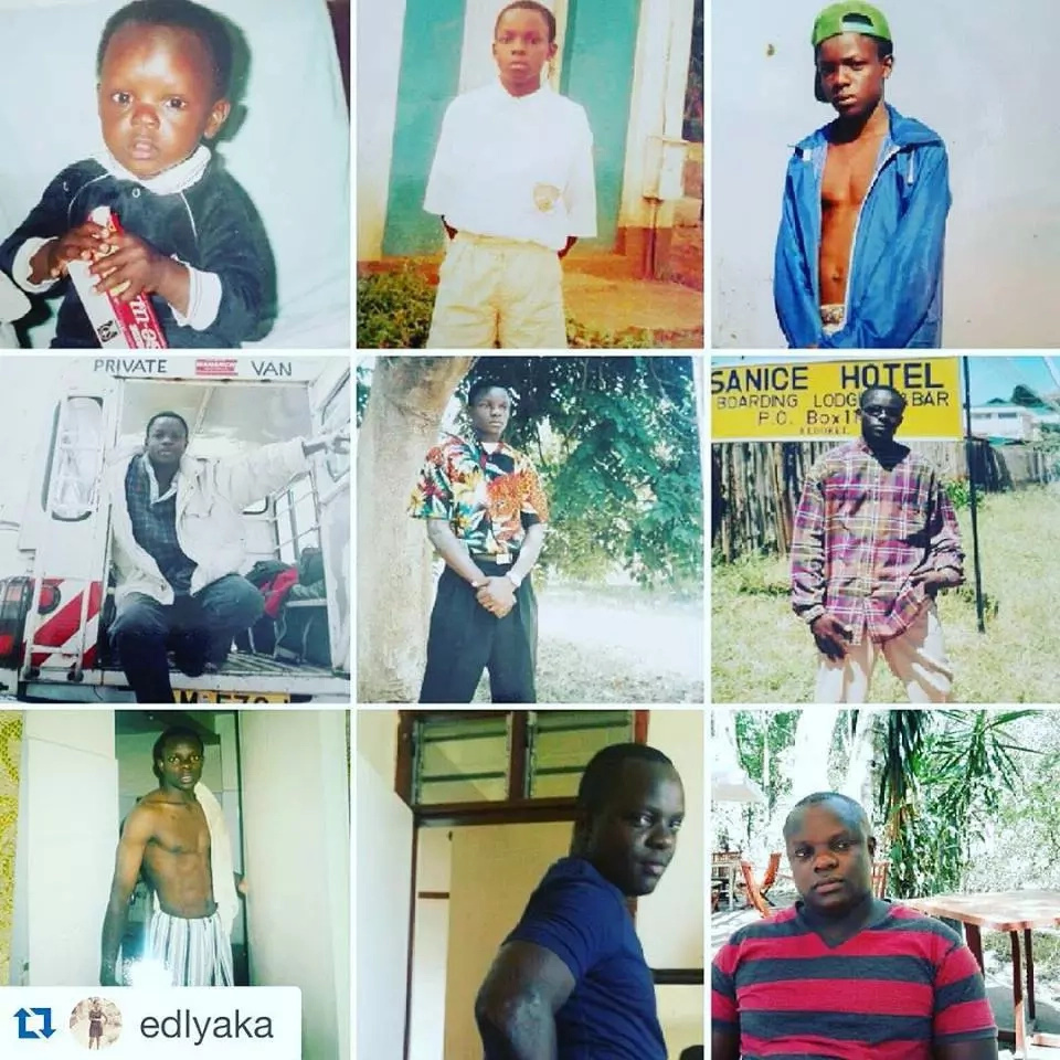 Photos: Ferdinand Omondi while growing up