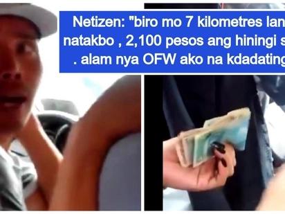 Video ng panlalamang at panloloko ng taxi driver sa isang OFw na kararating lang ng Pinas, nag-viral