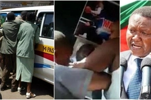 Man mercilessly thrown out of Matatu for saying he's supporting Alfred Mutua (video)