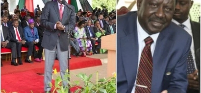 William Ruto with a 'hidden' message to Kenyans against opposition at the Labor day celebrations