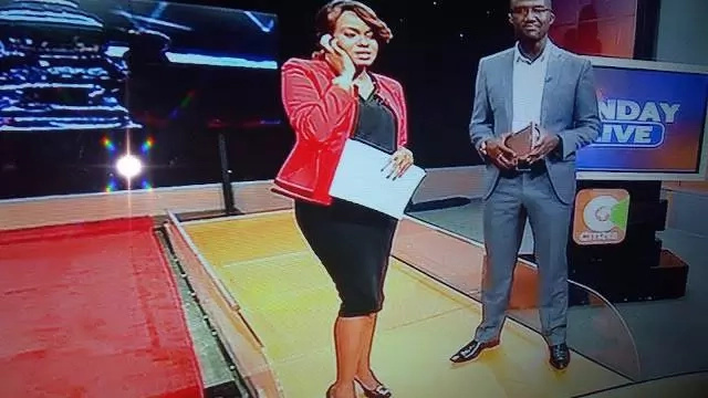 Citizen TV's Anne Kiguta hides her growing baby bump when reading news