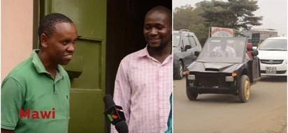 2 smart Kenyans build a 'car' from an old motorbike and it's genius (Video)