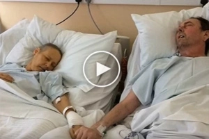 Terminally Ill Couple Caught Holding Hands To Say Final 'Goodbye'...