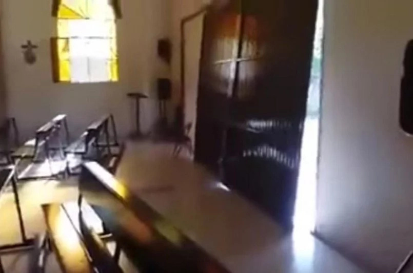 Naked Man Drives His Car Into A Church In Mexico