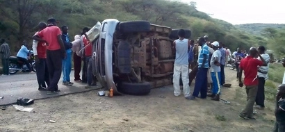 PHOTOS: One Seriously Injured In Grave Nakuru Highway Accident
