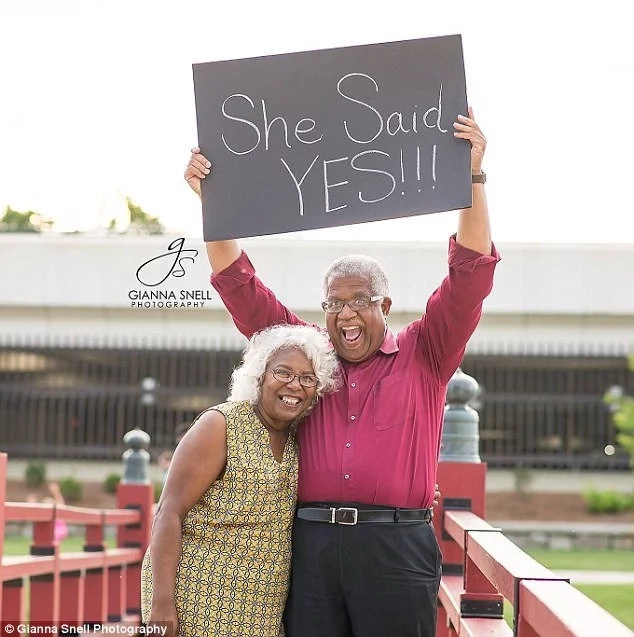 She said yes! Murphy and his fiancee Lucinda. Photo: Gianna Snell Photography