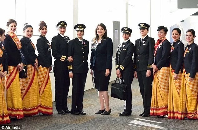 Air India makes history after completing first ever round-the-world flight by ALL-FEMALE crew (photos)