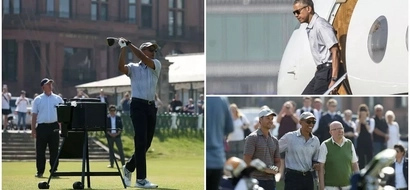 Obama jets into Scotland in STYLE with round of golf but avoids Donald Trump's golf course (photos, video)