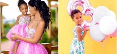 Diamond's mpango wa kando's daughter turns 3 and she looks prettier by the day