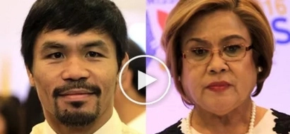 Sinungaling! Netizen makes amusing video of Pacquiao D'Boxer vs De Lima with funny background music