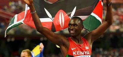 David Rudisha leads fellow Kenyans into the 800 metres semi-finals