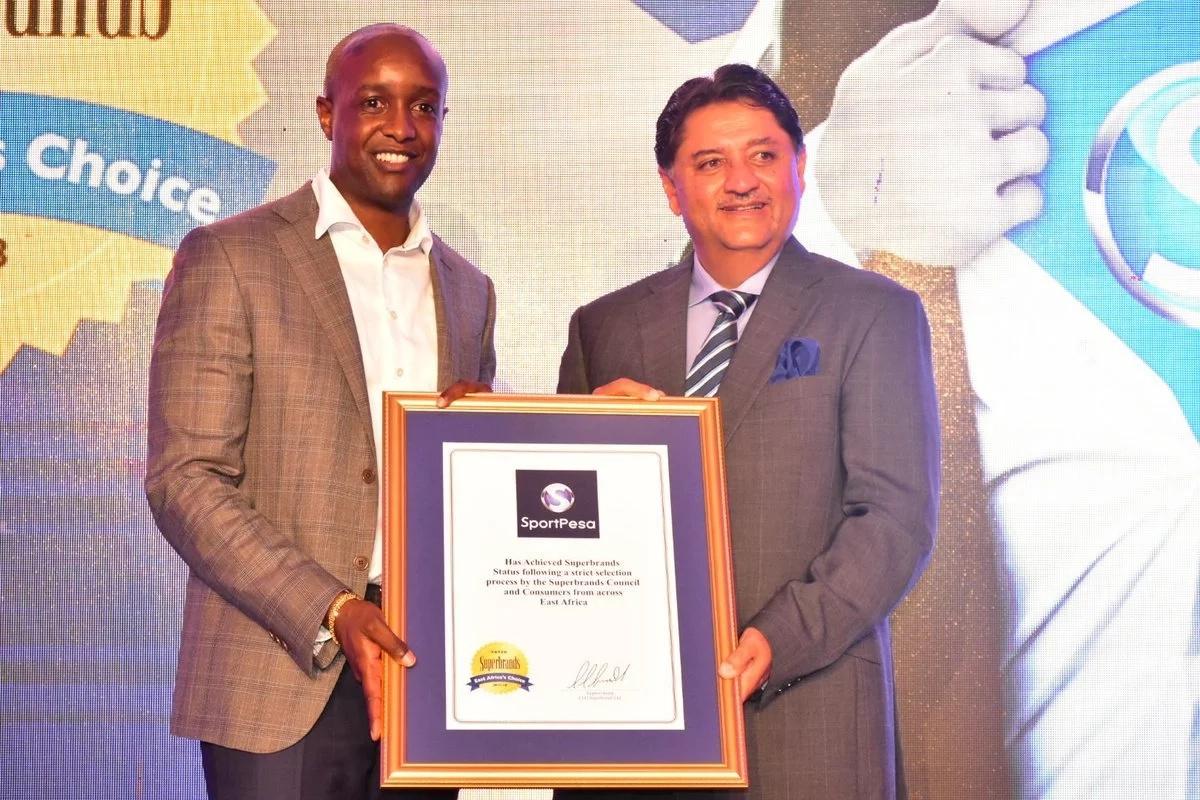 Sportpesa receives Superbrand certification for 2017