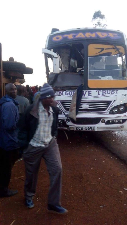 2 dead, 5 seriously injured after tractor and bus collide in Migori