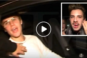 Justin Bieber Punches Bieber Fan For Sticking Head Into Biebermobile