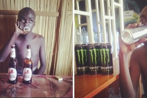He started drinking at around 6pm, when his friends looked for him at 9pm, he was having dry sex at a dimly lit corner (photos)