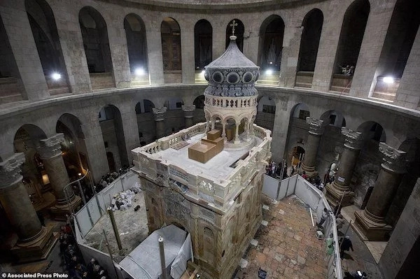 Historic! Site of Jesus' burial and ascension to heaven is RESTORED (photos)
