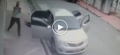 Lumaban ang biktima! Brave Pinoy victim shoots dead 3 dangerous kidnappers in the street