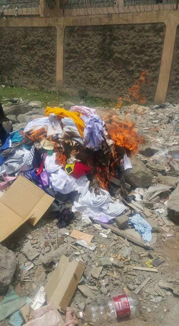 Local TV Presenter's expensive suits burnt to ashes by scorned girlfriend (Photos)