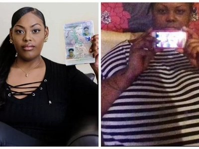 Woman, 28, forced to STRIP at airport to prove her identity after dramatic weight loss transformation (photos)
