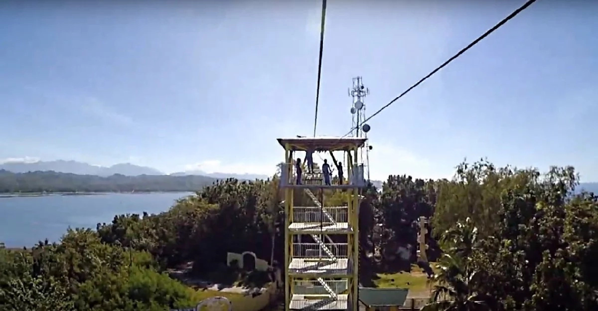 WATCH: Go island hopping through the world's longest zipline!