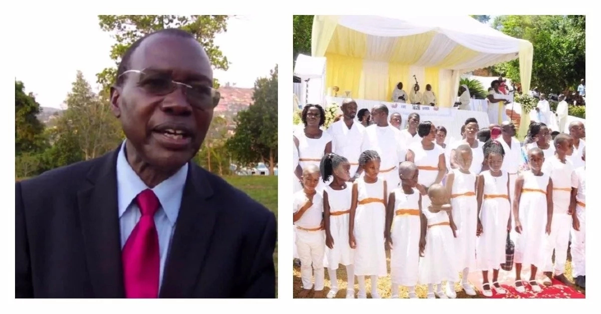 87 children and 20 pregnant ladies show up at funeral of famous professor (photos)