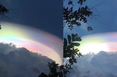 Mesmerizing unicorn rainbow cloud spotted in the Philippines!