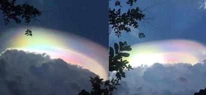 Unicorn rainbow cloud found in the Philippines!