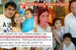 "Mga walanghiya! 'This woman is my father's ""kabit"" and she and my boyfriend of 12 years betrayed our whole family w/ their affair'"