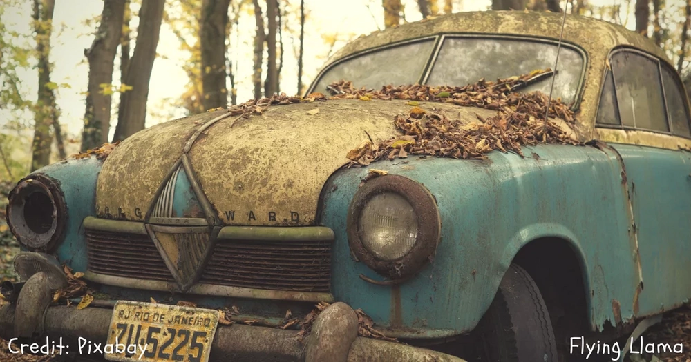 Photos of abandoned cars will make you wonder how they got there