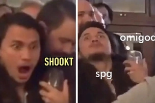 Shookt! Yael Yuzon is so extra in his reactions to naughty lap dance at Anne Curtis's wedding