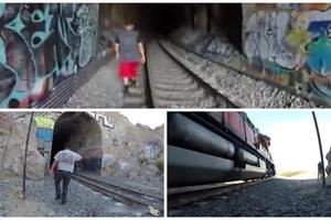 Entraron a un túnel cuando venía el tren y vieron a la muerte pasar frente a ellos