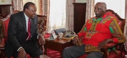 Is KANU joining Jubilee? Uhuru Kenyatta meets Gideon Moi and the internet is going BANANAS (photos)