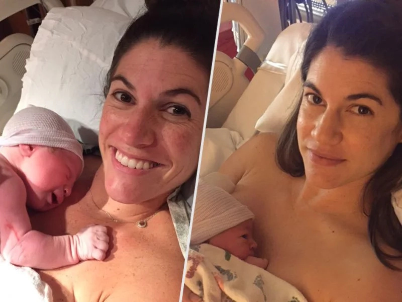 Identical twins give birth on same day at the same time