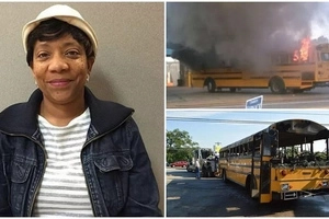 Heroine! School bus driver saves 56 students just before bus BURSTS into flames (photos)