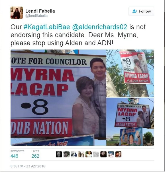 Stop using Alden in your campaigns, candidates told