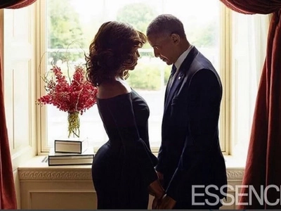 Details about Michelle Obama's ALLURING dress that got men drooling