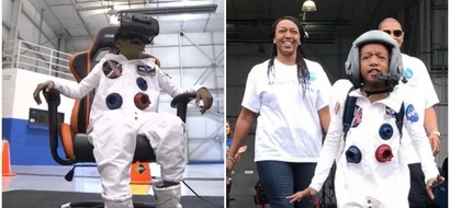 "Inspiring! Boy, 7, who has had 4 open-heart surgeries fulfills dream as he ""flies to outer SPACE"" (photos, video)"