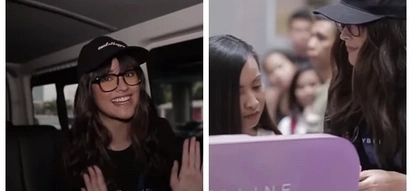 Liza Soberano pranks female customers by disguising as makeup seller in SM North EDSA