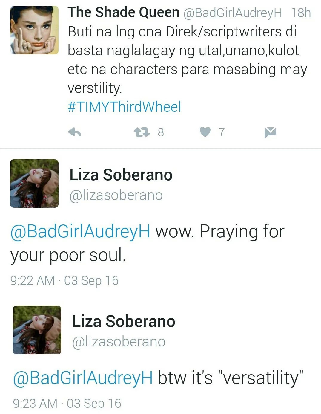 Liza Soberano is a grammar police of bashers