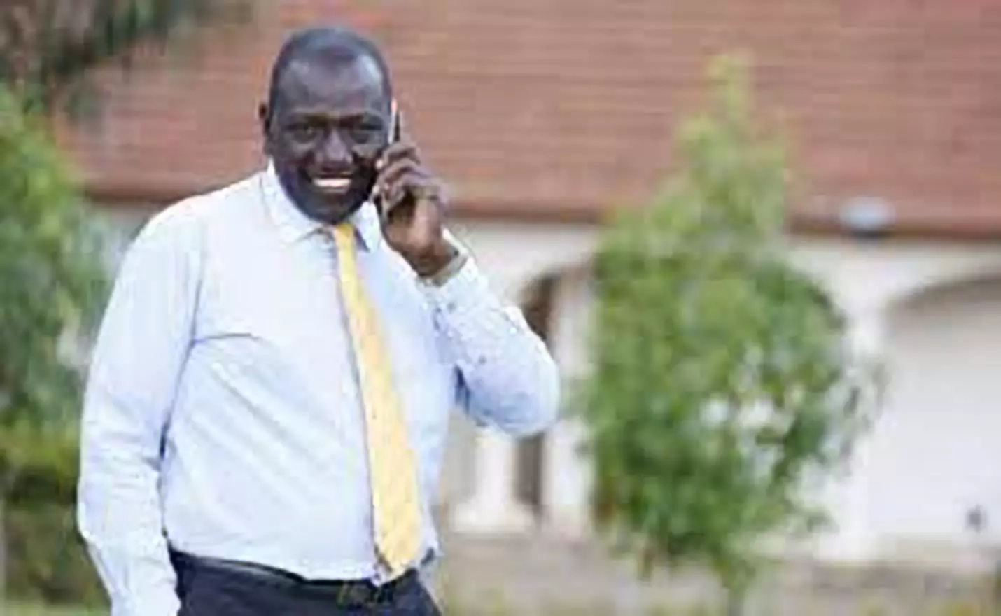 DP Ruto phone call