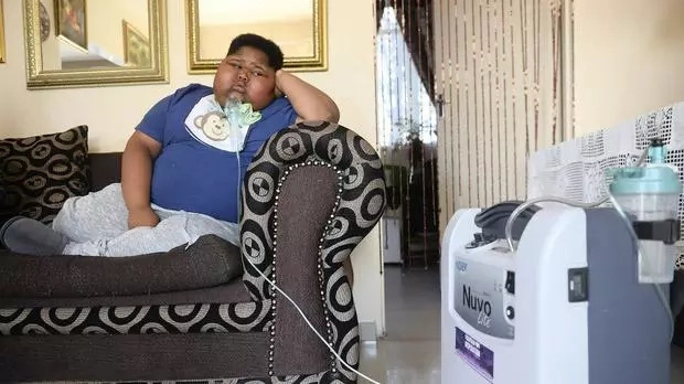 Boy, 10, who weighs 90kg battles rare condition that makes him constantly hungry