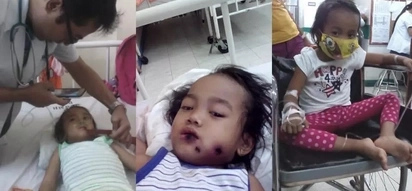 Naway gumaling na siya! Baby suffers from an agonizing battle with leukemia