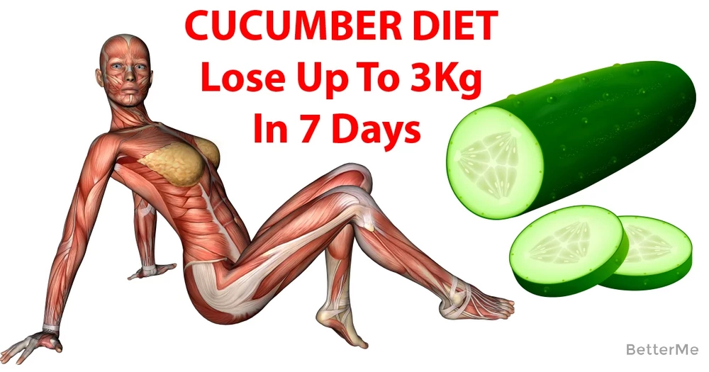Shred excess pounds with cucumber diet - lose up to 3 kg in 7 days