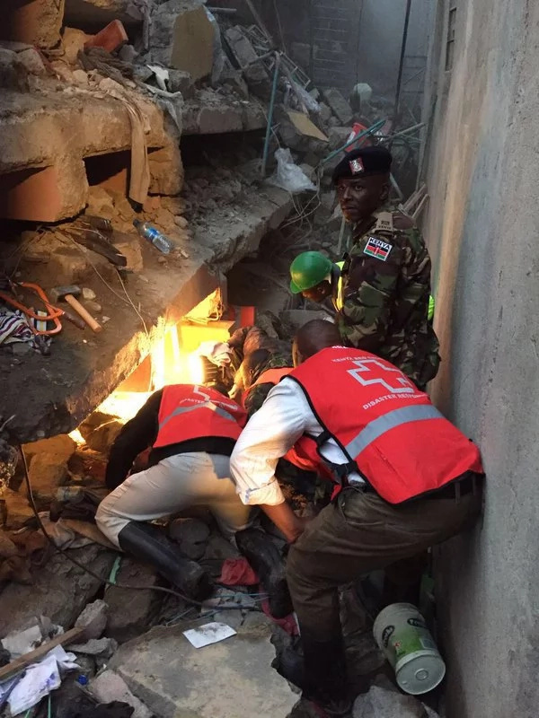 Rescue ongoing in collapsed Huruma building, 150 affected