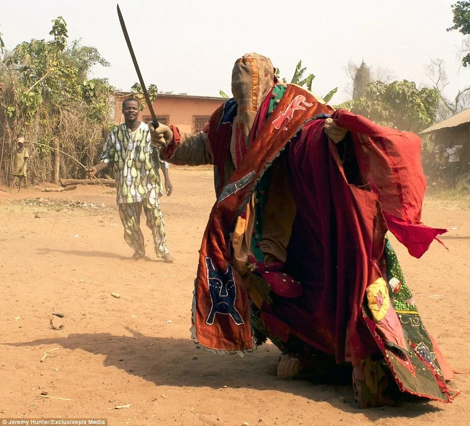 Egunguns are dressed in heavy attires to symbolize the power of ancestors