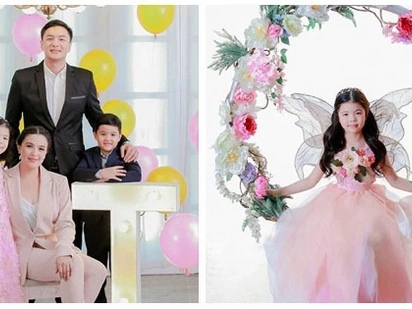 Happy family! Sunshine Dizon and ex-husband in a lovely family portrait for 7th birthday of their daughter