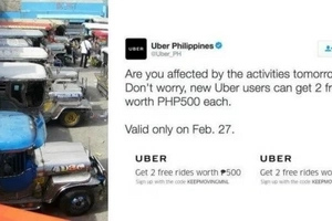 Netizens shake their heads and want to #DeleteUber after promotional tweet amid jeepney strike