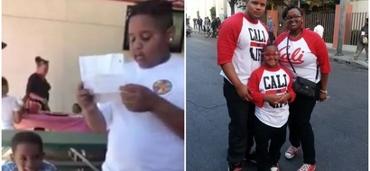 Touching! Boy, 10, reads letter asking his stepdad to ADOPT him (photos, video)