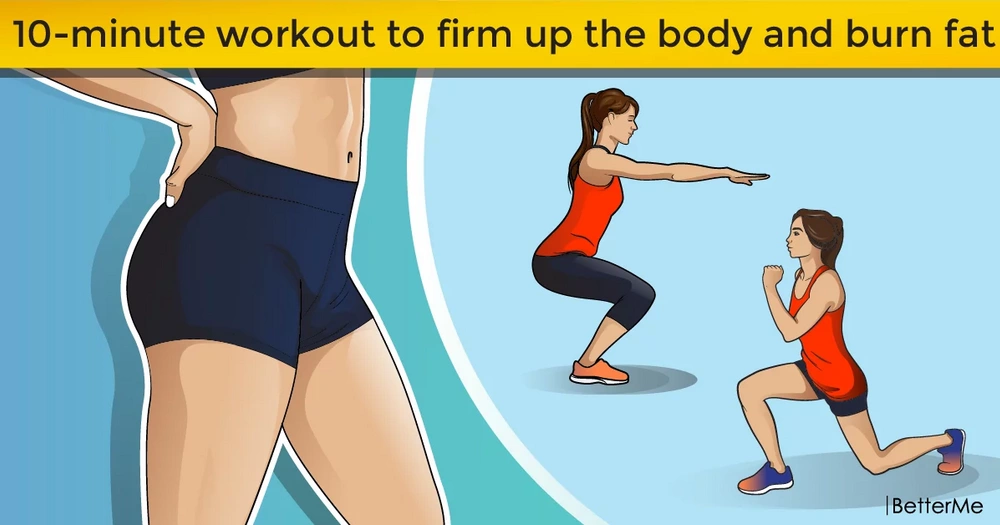 10-minute workout to firm up the body and burn fat